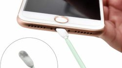 Can I clean my iPhone charging port with alcohol?